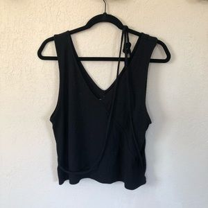American Eagle Outfitters Black Ribbed Tank Top